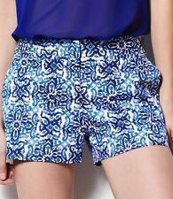 New MILLY for DesigNation SIZE: 8 Blue Tile Sateen Shorts. Шорты Дизайнер Хлопок