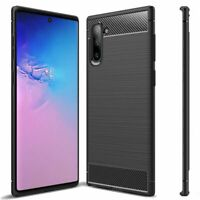 Slim Soft Carbon Fiber TPU Case Cover for Samsung Galaxy Note 10 / Note 10+ Plus