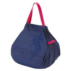 Marna Reusable Shopping Grocery Compact Foldable Tote Bag M (Navy) from UK