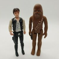 Vintage Star Wars 1977 Han Solo and Chewbacca Action Figure Lot First Twelve 12