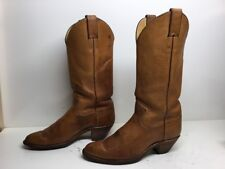 VTG WOMENS JUSTIN COWBOY LEATHER BROWN BOOTS SIZE 7 B