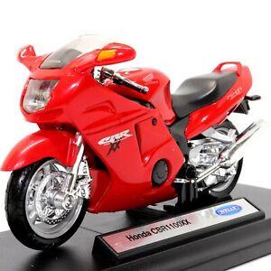 Honda CBR 1100XX Super Blackbird 1:18 Scale Model Toy Motorcycle Motorbike Welly