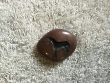 """HORSE IMAGED CARVED INTO A SMALL PEBBLE - 1 1/4"""""""