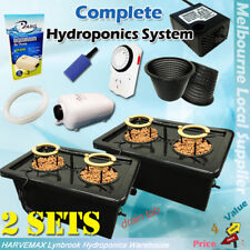 2 Set Hydroponic 50L DWC Watering System Irragation Kit Air Water Pump Aeroponic