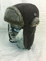 Crown Cap Aviator Hat Brown Size XL Ear Flap Hunting Trapper Bomber Style Ski