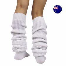Lady Women Girl White warm Slouch Foot Leg Warmer Long Loose Socks tights 80cm