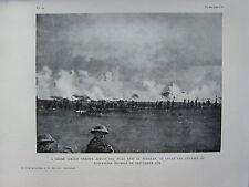1918 WW1 WWI PRINT ~ SMOKE SCREEN ACROSS HILLS EAST OF PERONNE ~ COVER ADVANCE