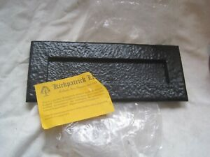Vintage WELL MADE Quality Black Metal LETTERBOX by KIRKPATRICK Letter Box DOOR