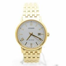Citizen BM6772-56A Eco-Drive Sapphire Gold Stainless Steel Solar White Watch