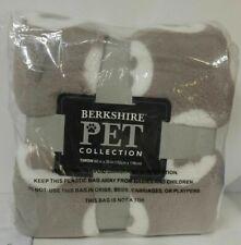 "Berkshire Blanket 60"" x 70"" Pet Lovers Shearling Throw/ PAW GREY"