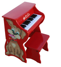 Schoenhut Kids Table Top Piano 25 Key Grows With Child Decorative Animal Head