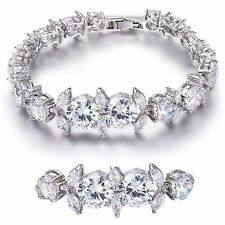 Beautiful Bracelet Fashion Jewelry Elegant 18 Round Cut Cubic Zirconia Stones