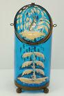 Antique+Moser+Enameled+Art+Glass+Sugar+Jar+Casket+Box+Winter+Woodland+Rabbit+
