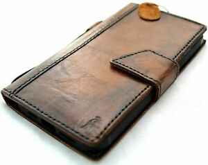 Genuine Leather case for LG V60 ThinQ book cards wallet cover Magntic Luxury Art