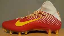 NEW 0 Nike VAPOR UNTOUCHABLE 2 sz 10.5 RED White Gold Football Shoes Cleats