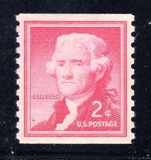 US STAMP #1055b — 2c JEFFERSON COIL —  SUPERB  —  MINT — GRADED 98