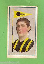 1912 RICHMOND AUSTRALIAN FOOTBALLERS STANDARD CIGARETTE  CARD - B. HERBERT