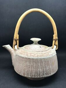 Mary Rich Studio Pottery Teapot With Cane Handle (Or405)