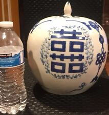 Chinese old Handmade painting hi word blue and white porcelain pot
