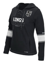 NHL Los Angeles Kings Women's Reebok PlayWarm Pullover Hoodie - Black - 402FW