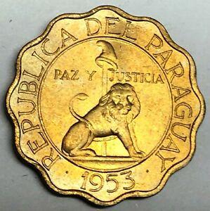 # C7397    PARAGUAY    COIN,    50  CENTIMOS   1953   Unc.