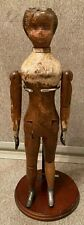 "Antique 11-1/2"" Jointed Wooden Doll (Joel Ellis, Vermont???)"