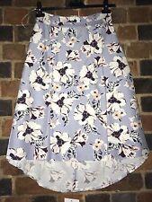 VESPER A Line Midi Floral Skirt Size 12 BNWT ASOS brand