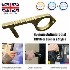 Contactless Clean Hand Hygiene Antimicrobial Brass EDC Door Opener Handle Key