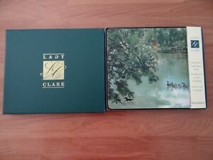 LADY CLARE Place Mats set of 4 Lake Scene Hand Crafted Felt Back Heat Resistant