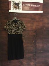 East  5th Animal Print Top And Black Skirt Dress 10 SS