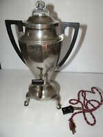 Vintage Art Deco Universal Electric Coffee Pot 8 Cup Cloth Cord E9169A Made USA