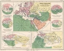 'Orbis Terrarum'. Ancient World. Time of Alexander the Great. JOHNSTON 1855 map