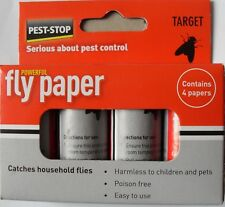 Pest Stop FLY TRAP PAPERS Sticky POISON FREE Insect Killer Bug Catcher Wasp