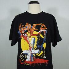 SLAYER Reign In Blood Tour 86-87 T-Shirt Black Men's size L (NEW)