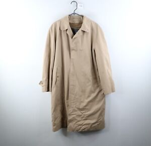 Vintage Burberrys Mens 40R Novacheck Wool Lined Trench Coat Jacket Khaki Tan