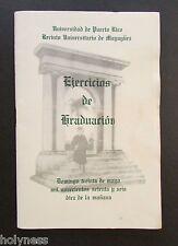 VINTAGE PROGRAM / EJERCICIOS DE GRADUACION UPR / MAYAGUEZ PUERTO RICO / 1976