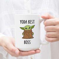 Yoda Best Boss Mug Yoda Mug Yoda Boss Mug Funny Boss Gift Funny Boss Mug