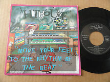 "DISQUE 45T DE HITHOUSE  "" MOVE YOUR FEET TO THE RHYTHM OF THE BEAT """