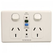 Classic Double 10Amp Powerpoint / GPO Outlet with RCD Protection Free Shipping