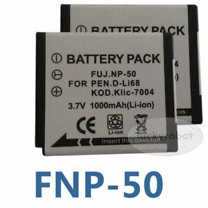 2X Battery For Fujifilm NP-50 FinePix XF1 F900 EXR XP200 XP170 XP160 XP150 X10