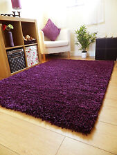 SMALL X LARGE SIZE THICK PLAIN SOFT SHAGGY RUG NON SHED 5cm PILE MODERN RUGS