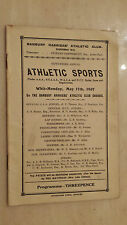 BANBURY HARRIERS ATHLETIC CLUB: ATHLETIC SPORTS PROGRAMME MAY 1937