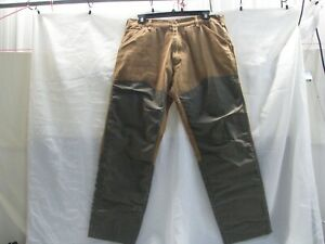 Browning Tan Canvas Hunting Pants with Green Nylon Chaps-Size 40 x 32