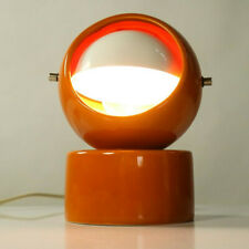 Orange Moon Phase Table Lamp ,Vintage, 70s, 60s, Space Age, Mechanical Dimming