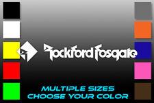 Rockford Fosgate Logo Sticker Speakers Subwoofers Amplifiers