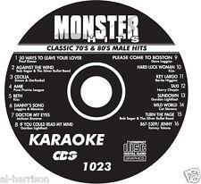 KARAOKE MONSTER HITS CD+G CLASSIC 70's & 80's MALE HITS #1023