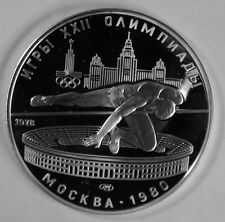 1978 Russia/USSR  Silver 1/2 OZ Proof 5 Roubles Moscow Olympics High Jump