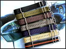 22mm Black-Orange NATO g10 UTC RAF Military nylon strap watchband IW SUISSE 20mm