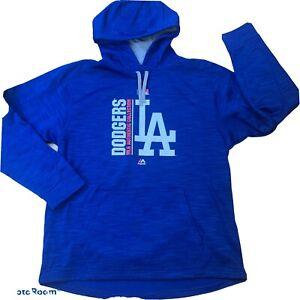 LA Los Angeles Dodgers Hoodie Sweatshirt Men's L Fleece Lined Blue NEW No Tags