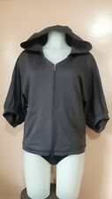 EUC, Danskin Gray Hooded Wide-sleeve Jacket, sz M on tag, fits up to L